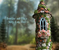 The Enchanted Fairy Garden Tower Miniature by bewilderandpine
