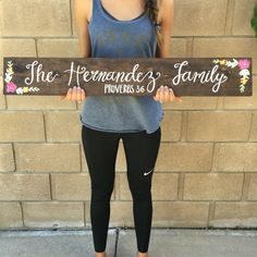 """Custom Family Sign Handmade hand-painted custom wooden signs for your home and more made by The Rustic Violet. Order at https://www.etsy.com/shop/TheRusticViolet and follow me on Instagram under """"TheRusticViolet"""""""