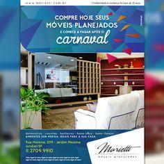 Campanha Online realizada no website, redes sociais e e-mail marketing da loja Marietti Móveis Planejados. #baloodesign #publicidade criado por  www.baloodesign.com.br