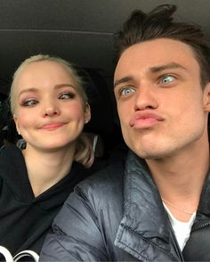 "Dove Cameron on Thomas Doherty Instagram. ""the moment of inertia""."