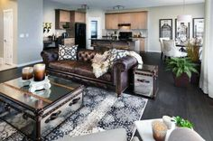 Great Dark Brown Colored Formal Living Room Ideas Chesterfield Sofa & How to Decorate with Brown Leather Furniture | Pinterest | Brown ...