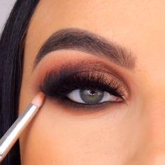 Smoky Eye Makeup Tutorial, Smokey Eye Makeup, Makeup Eyeshadow, Smokey Eyeshadow Looks, Eyeshadow For Blue Eyes, Makeup Pictorial, Bridal Eye Makeup, Fall Makeup, Evening Eye Makeup