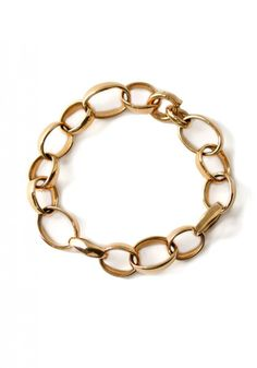 "Pomellato's 18k rose gold 7-1/2"" oval link bracelet. Available at Oster Jewelers."