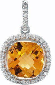 Bright and Sunny Yellow Citrine Pendant in 14 « Holiday Adds