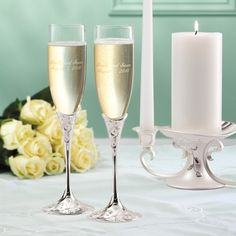 Lenox Opal Innocence Wedding Toasting Flutes | Wedding Flutes