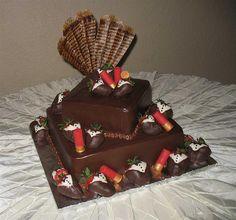 Turkey Hunting Cake Decorations : Wedding Food Ideas on Pinterest Wild Turkey, Groom Cake ...