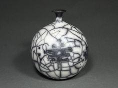 Housewarming Ceramic Raku vase , Naked Raku Pottery, Hand Thrown Pottery Wheel Pot, Black and White Vessel, pottery art vase, keramik Raku Pottery, Pottery Wheel, Pottery Art, Japanese Ceramics, Modern Ceramics, Hand Thrown Pottery, Ceramic Techniques, Ceramic Vase, Unique Art