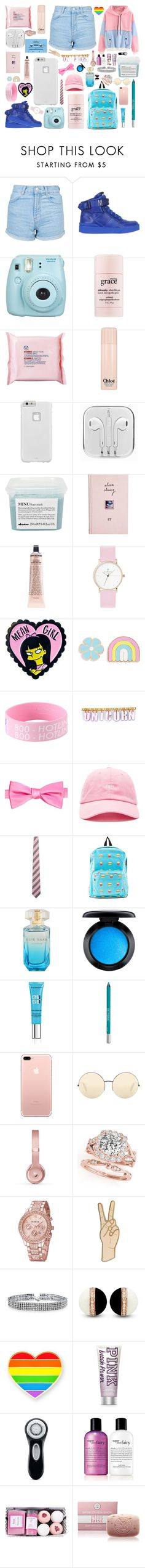 """So Pink"" by localhugdealer ❤ liked on Polyvore featuring Topshop, Moschino, Fujifilm, philosophy, The Body Shop, Chloé, Case-Mate, CASSETTE, Davines and ASOS"