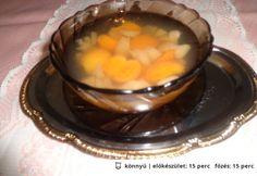 Alma-barack kompót gyümölcscukorral