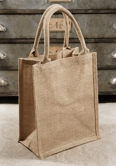 Burlap Bags to put goodies in for guests at the hotel