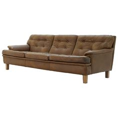 Arne Norell - Leather 3 seater sofa