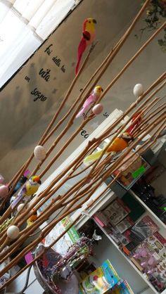 Uccelli con mollettina ideali per decorazioni.
