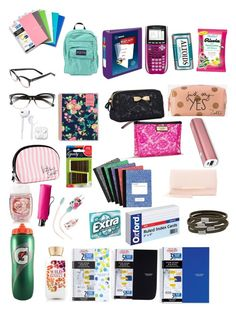"""""""What's in my backpack"""" by angelinasteveson on Polyvore featuring interior, interiors, interior design, home, home decor, interior decorating, JanSport, Bobbi Brown Cosmetics, Avery and Day Designer"""