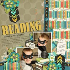 Coming to the Shoppe 5/9/14...  I Like Big Books by Traci Reed and Studio Flergs  Layout also uses template from Set 166 by Cindy Schneider ...
