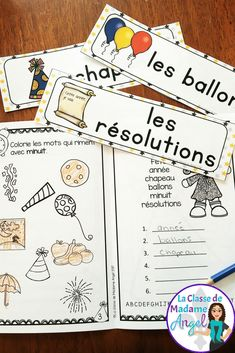 Bonne Année!  Celebrate the New Year in French with this fun activity booklet!  Comes with word wall cards and a variety of fun activities for the New Year!