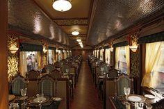 Train travel: Maharajas' Express Luxury Train (India) - restaurant