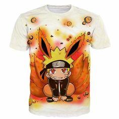Naruto Funny Bunny 3D Short Sleeve Anime T-Shirt