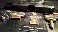 Glock 19 Usb Flash Drive, Gold, Certificate, Usb Drive