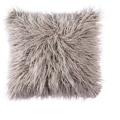 OJIA Deluxe Home Decorative Super Soft Plush Mongolian Faux Fur Throw... ($20) ❤ liked on Polyvore featuring home, home decor, throw pillows, gray home decor, grey throw pillows, gray accent pillows, grey toss pillows and grey home decor