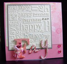 Birthday Card Idea .... I have this folder, looks nice was wondering how to use it to look elegant now I know/