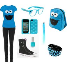 cookie+monster+clothes+for+teen+girls | Cookie Monster
