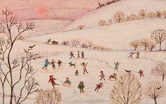 Landscapes & Wildlife Portfolio | Lucy Grossmith | Heart To Art Winter Illustration, Illustration Art, Illustration Pictures, Winter Painting, Naive Art, Winter Scenes, Christmas Art, Prints For Sale, Folk Art