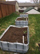 Sub-Irrigated Planter From Reclaimed IBC Water Tank : 9 Steps (with Pictures) - Instructables Raised Vegetable Gardens, Veg Garden, Garden Boxes, Garden Planters, Tower Garden, Succulent Planters, Succulents Garden, Large Water Containers, Self Watering Containers