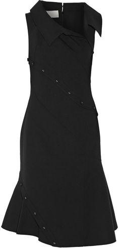Monse Button-Detailed Stretch Wool-Blend Dress 3292fb05f1a