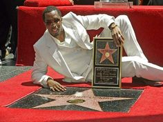 Sean Combs Sean Combs, Hollywood Walk Of Fame, Michael Jackson, Reign, Movie Stars, Pop Culture, Social Media, Black And White, Movies