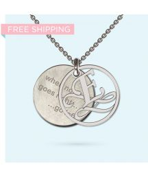 Engrave a personalised and meaningful message on this unique pendant made from precious metals. Wheel Of Life, Washer Necklace, Pendant Necklace, Pendant Design, Gift Vouchers, Hamsa, Precious Metals, Initials, Pendants