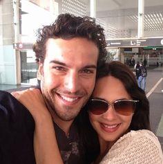 Adriana Louvier y su novio Guto