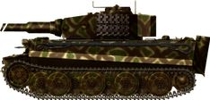 Tiger Ausf E late Holland june 1944, Ausf. E late, SS PanzerAbteilung 103, Holland, June 1944