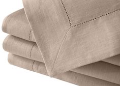 Buy Natural Beige Linen Tablecloth with Hemstitch in Large Sizes by kukshome. Explore more products on http://kukshome.etsy.com