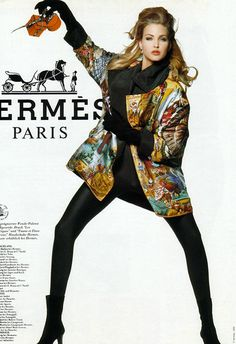 Timeless Fashion Nadja Auermann for Hermes Fall, 1992 80s And 90s Fashion, Retro Fashion, Vintage Fashion, Fashion Teens, Vintage Clothing, Fashion Women, Women's Clothing, Women's Fashion, Cozy Fashion