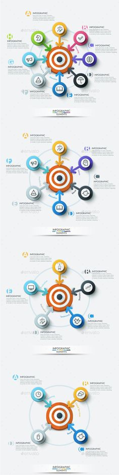 Modern Infographic Target Marketing Concept (4 Items) Template PSD, Vector EPS, AI. Download here: http://graphicriver.net/item/modern-infographic-target-marketing-concept-4-items/15107412?ref=ksioks