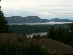 Early March vista on Salt Spring Island...silver sea, silver sky, silver lake...charcoal trees.  Almost Spring...