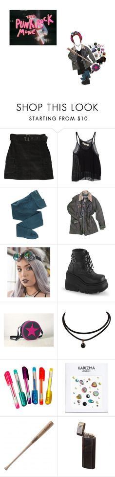 """#452"" by floxpolimon ❤ liked on Polyvore featuring Inhabit, Gerbe, Vintage, Demonia, Dylan's Candy Bar and Louisville Slugger"