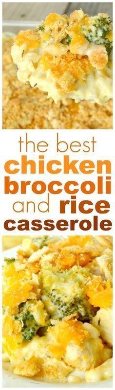 Chicken, rice, broccoli, all baked in a super, super, creamy, easy sauce, then topped off with lots of gooey cheese and buttery bread crumbs….. Now that's what I call comfort food! Seriously, the crunchy, cheesy topping is absolutely to die for.