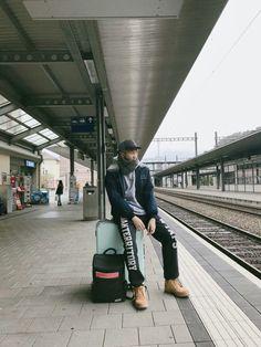 RapMonster in Germany! Photo on Twitter's account bts_twt 171101 #BTS #RapMonster #Namjoon
