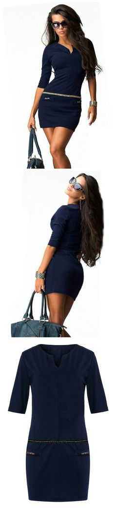 Style should never end.. Tune up your office looks with this great bodycon bandage office dress!
