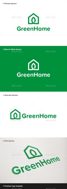 Green Home Logo • Available here → http://graphicriver.net/item/green-home-logo/9445598?s_rank=132&ref=pxcr