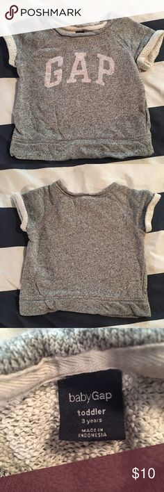 Baby Gap Top So soft and comfy, made from sweatshirt material. Perfect with skinny jeans and boots! GAP Shirts & Tops Blouses