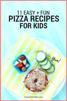 Easy kid's pizza ideas that are quick and fun. Get more than 10 pizza recipes for kids that are specially designed with them in mind and include ingredients you already have in your fridge! Of course, tips for picky eaters are included. Cooking With Kids Easy, Healthy Meals For Kids, Fun Cooking, Healthy Cooking, Kids Meals, Baby Meals, Cooking Bacon, Cooking Turkey, Fun Pizza Recipes