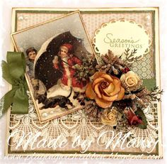 Playing With Ribbon: A vintage Christmas card ....