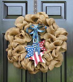 Patriotic wreath- 4th of July - Holiday Wreath - Memorial Day Wreath - Home Decor - Americana - Wreath For Door Gift Idea