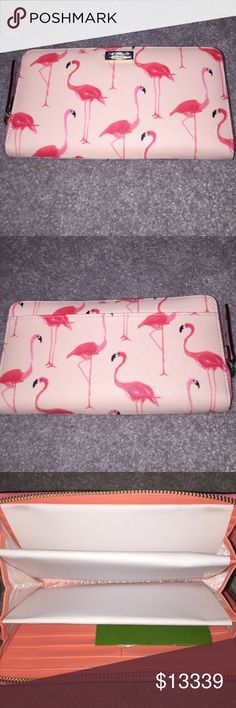 MAKE AN OFFER Kate Spade flamingo newbury lane!!! Kate Spade flamingo newbury lane printed NWT Wallet. kate spade Bags Wallets
