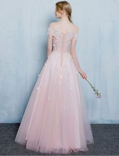 Off Shoulder Butterfly Lace Prom Dress