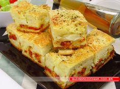 Receita de Torta de queijo e tomate seco