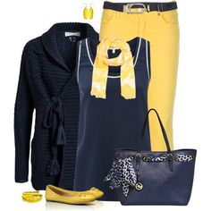 Navy & Yellow, created by dragonflyy86 on Polyvore