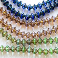 Multicolor Czech Glass Faceted Saturn Beads Facet by KanduBeads